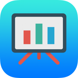 Graph on Whiteboard Icon