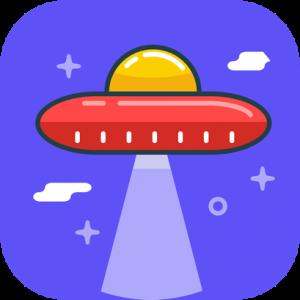 UFO Retro Icon